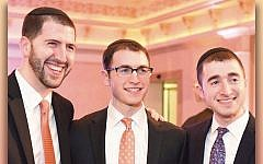 From left, Rabbis Zev, Daniel, and Noah Goldberg. (Courtesy of YU)