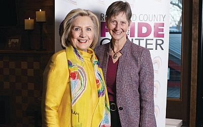 Hillary Rodham Clinton and Rabbi Paula Mack Drill (Photo provided)