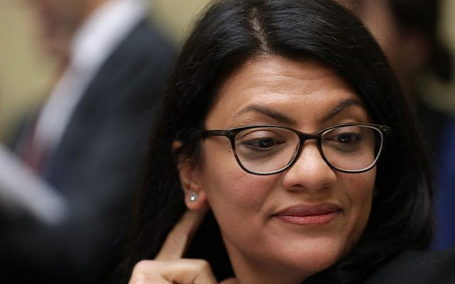 Rep. Rashida Tlaib listens to Michael Cohen at his testimony before the House Oversight Committee on Capitol Hill, Feb. 27, 2019. (Chip Somodevilla/Getty Images)