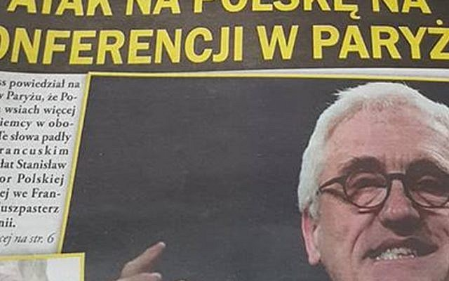 Historian Jan Gross on the front page of a Polish weekly that instructs readers on how to recognize Jews. (Misiek Kaminski)