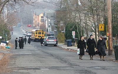 Measles cases have been clustered in parts of Rockland County, N.Y., that include New Square, an all-Hasidic village. (Uriel Heilman)