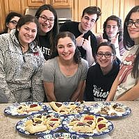 Congregation Kol HaNeshamah's USY of Englewood group held a hamantaschen bake-off at a private home. (Kol HaNeshamah)