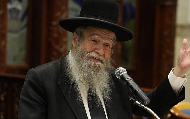Rabbi Aviezer Piltz in 2015. (Flash90)