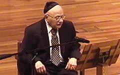 Frank Schott speaking at a Ridgewood interfaith Holocaust commemoration.