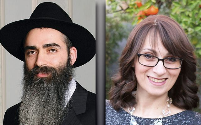 Rabbi Mordechai Shain, left, and L'via Weisinger