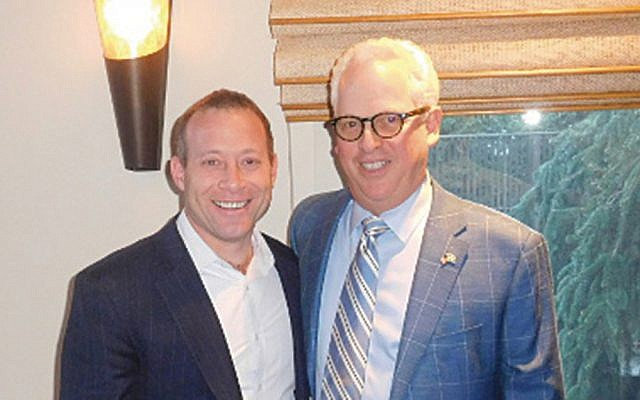 Congressman Josh Gottheimer, left, with Dr. Robert Goodman. (Courtesy Norpac)