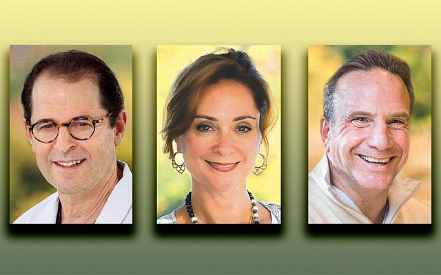 Dr. Richard Goldweit, left, Jennifer Graf, and David Graf (Photos courtesy Englewood Health)