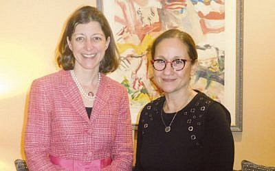 Congresswoman Elaine Luria, left, with Dr. Laurie Baumel. (Courtesy Norpac)