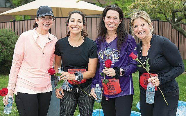 Amy Kent, Stephanie Cohn, Karin Bevilacqua, and Jillian Somberg at last year's run. (Courtesy JCCOPT)