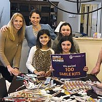 The Opper family hosted a smile kit pop-up