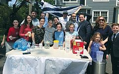 A lemonade stand on Teaneck's Maitland Avenue raised $1,100 for Magen David Adom after it was hastily set up as a counterprotest to a pro-Palestine anti-Israel demonstration on the same block.