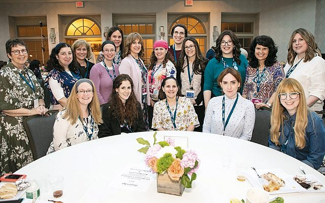All New Jersey participants in the OU Women's Initiative Leadership Summit in Woodcliff Lake sit together. (Zush Photography)