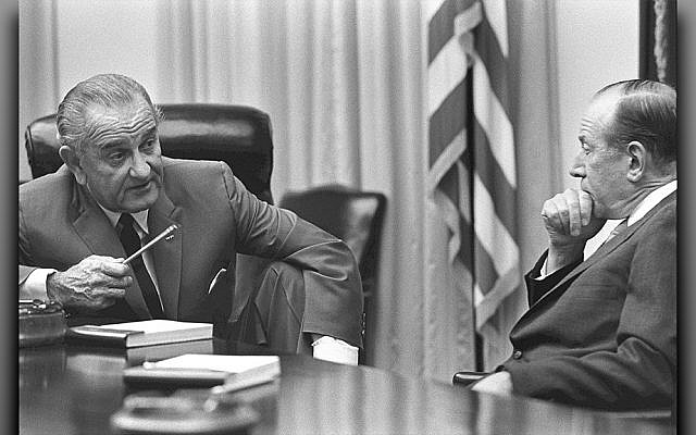 President Lyndon Johnson, left, confers with Abe Fortas, whom he nominated to the Supreme Court and depended upon as an adviser.