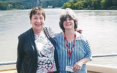 Lois Goldrich, right, with her friend Bea Gopoian of Teaneck as they cruise the Danube River.
