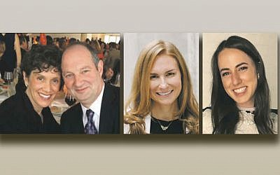 Shari and Nathan J. Lindenbaum, left, Dr. B. Aviva Preminger, and Racheli Bloom Poleyeff