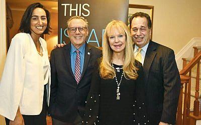 From left, Vered Buskila, Lee Schwartz, executive director of Israel Bonds Metro NJ, Annette Stern, and Marc Rosen, Israel Bond's registered representative for Bergen County. (Courtesy Israel Bonds)