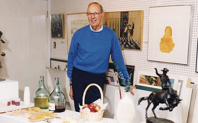Jerry Nathans held frequent openings in his art gallery; here he's at one in around 1978.