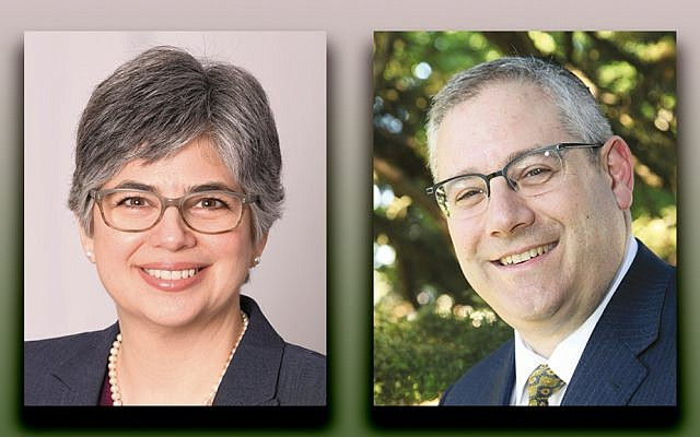 Dr. Hannah Lipman, left, and Rabbi Dr. Edward Reichman
