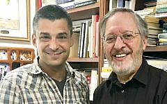 Rabbi Brian Leiken, left, of Temple Beth Shalom and Rabbi Paul Kurland of the Nanuet Jewish Center are working on a new model of cooperation between their synagogues.