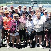 More than 35 tennis players participated in an afternoon of round-robin matches.  (Photos courtesy Jewish Home Family)