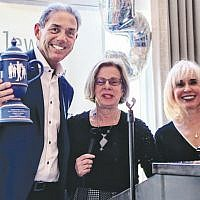 Honoree Howard Chernin and Jewish Home Family board chair Carol K. Silberstein and president and CEO Carol Silver Elliott