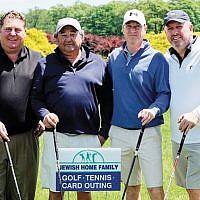 Men's foursome, from left, Larry Raimen, Larry Adler, Michael DenBlaker, and Alan Levy.