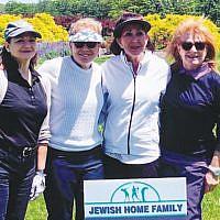 Ladies foursome, from left, Esther Feldman, Dr. Terri Katz, Beth Shiffman, and Cynthia Low.