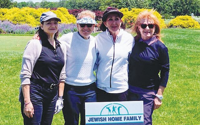 Ladies foursome, from left, Esther Feldman, Dr. Terri Katz, Beth Shiffman, and Cynthia Low.