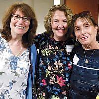 Board member Sheryl Sarnak, Susan Greenbaum, and board member  Helen Graf (Photos courtesy JFCS)
