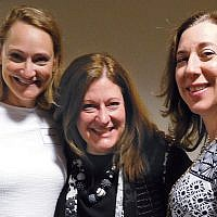JFCS's president, Debbie Harris; the Jewish Federation of Northern New Jersey's chief planning officer, Lisa Harris Glass, and the federation's president,  Roberta Abrams
