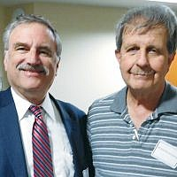 JFCS board member Barry Feigenbaum and its secretary, Ron Rosensweig