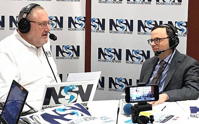 "Rabbi Adam Starr, right, of the synagogue formerly known as Young Israel of Toco Hills, appears on the ""JM in the AM"" radio show, January 2019. (Facebook)"