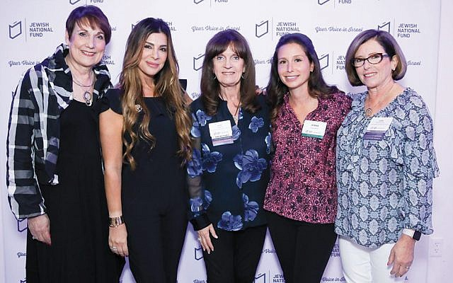 From left, event co-chair Debbie Rogoff of Fort Lee, Siggy Flicker, WFI chair Ruth Pomerantz of Alpine, event co-chair Jenna Gutmann of Tenafly, and chapter co-president Joan Oppenheimer of Cliffside Park (Photos courtesy JNF NNJ)