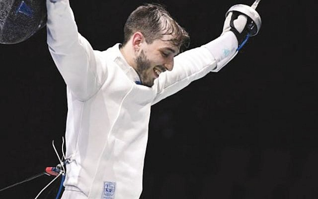 Yuval Freilich, 24, won the European Fencing Championship on June 18, 2019, becoming the first Israeli to do so. (European Fencing Conf.)
