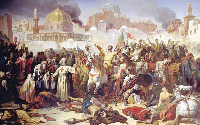 """Taking of Jerusalem by the Crusaders, 15th July 1099"" (Giraudon/The Bridgeman Art Library/1847)"