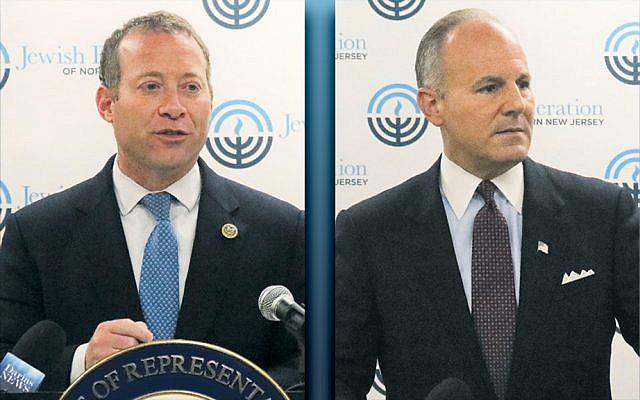 Congressman Josh Gottheimer, left, and Special Envoy Elan Carr