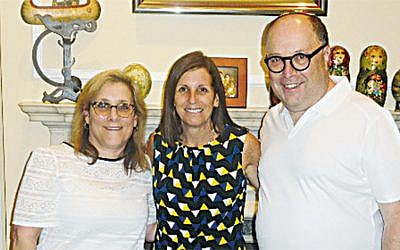 Esther and David Muschel flank Senator Martha McSally. (Courtesy Norpac)