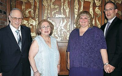 Jack and Sandy Bauer, left, with Julie and Howie Leopold. (Sandra Alpern)