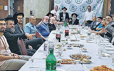Rabbi Mordechai Kanelsky of Bris Avrohom celebrated his 58th birthday during a weekend celebration last month with family, friends, and community members. Many of the attendees shared their personal histories and the impact of Bris Avrohom and the Kanelsky family.