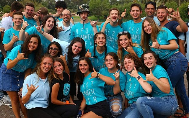 More than 2,500 teens participating in NCSY summer programs in Israel meet for one night in Raanana. (Photo courtesy of the Orthodox Union)