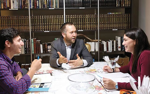 Eli Szafranski, Rabbi Benny Berlin, and Robin Tassler talk about issues that affect the lives of Orthodox students at Queens College.