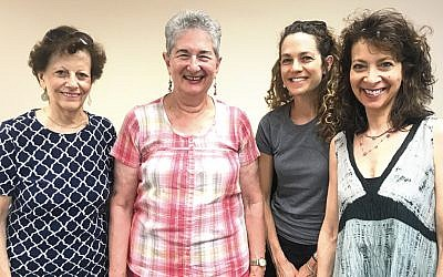 From left, Fran Thiessen, Miriam Rinn, Roni Blinder, and Barbara Golub are the Jewish Family and Children's Services of Northern New Jersey's first cohort of Cooking Companions. (JFCS)
