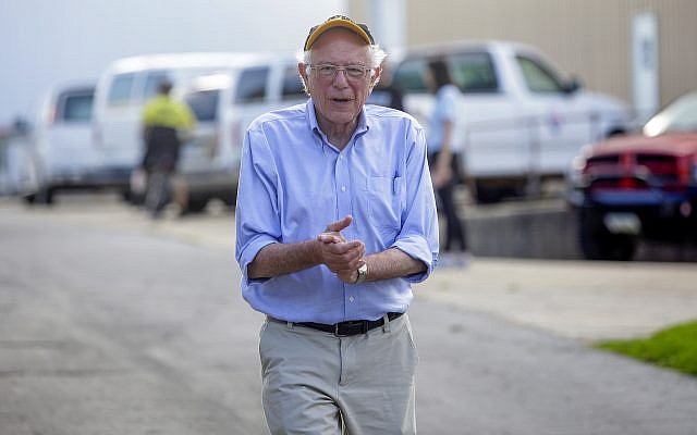 Bernie Sanders at a Fourth of July parade in Pella, Iowa, July 4, 2019. (Joshua Lott/Getty Images)