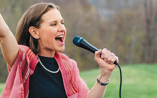 Rabbi Adina Lewittes of Sha'ar Communities leads second day Rosh Hashanah services last year.