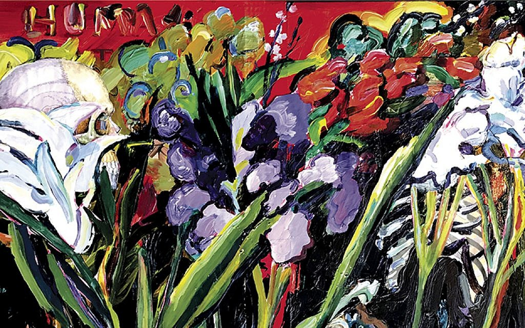 """Detail from """"The Garden of Good and Evil,"""" Joel Silverstein."""