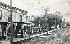 This shot of the family business, Kauffman's Department Store in Messena, was taken in 1908.