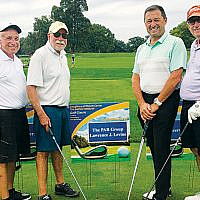 Eagle Sponsor Peter Levine, from far left, enjoys a day of golf with Larry Levine, John Delutis, and David Kaufman.