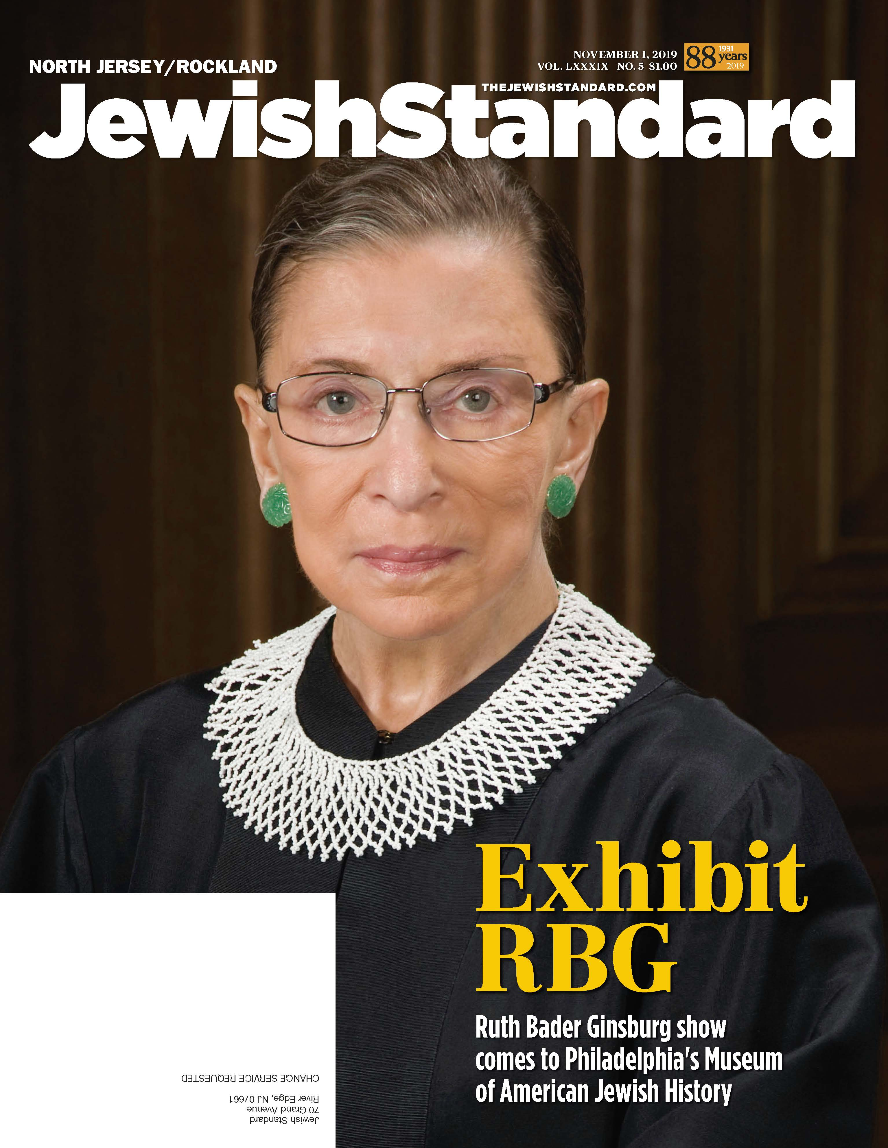 Jewish Standard, November 1, 2019