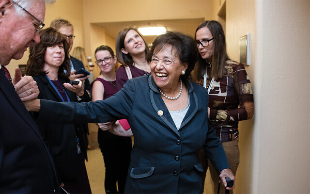 Representative Nita Lowey (D-N.Y. 17th Dist.) in the Capitol on October 16, 2019. (Representative Nita Lowey (D-N.Y. 17th Dist.) in the Capitol on October 16, 2019.)