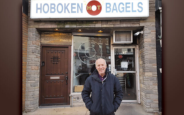 Charles Rubin at his go-to bagel place.